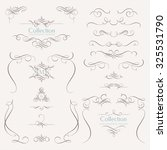 collection of calligraphic... | Shutterstock .eps vector #325531790