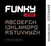 'funky letters' isolated on... | Shutterstock .eps vector #325536668