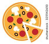 vector pizza icon | Shutterstock .eps vector #325542650