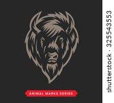 buffalo head animal symbol.... | Shutterstock .eps vector #325543553