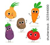 adorable collection of five... | Shutterstock .eps vector #325544000