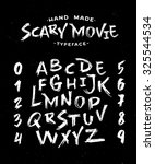 hand made scribble font 'scary... | Shutterstock .eps vector #325544534