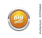 big offer yellow vector icon... | Shutterstock .eps vector #325546664