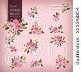 vector illustration of floral... | Shutterstock .eps vector #325548854
