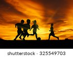 three brothers boys play at... | Shutterstock . vector #325549703