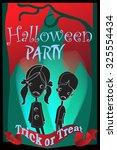 halloween vector flyer with... | Shutterstock .eps vector #325554434
