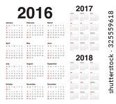 simple calendar for 2016 2017... | Shutterstock .eps vector #325559618