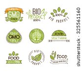 collection of natural organic... | Shutterstock .eps vector #325561160
