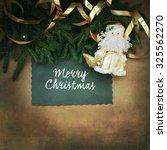 christmas decoration handmade... | Shutterstock . vector #325562270