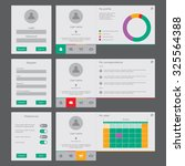 ui and ux vector mockup for...