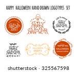 happy halloween hand drawn... | Shutterstock .eps vector #325567598