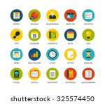 round icons thin flat design ... | Shutterstock .eps vector #325574450