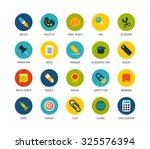 round icons thin flat design ...
