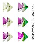 set of abstract next play arrow ... | Shutterstock . vector #325578773
