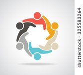 people for infographic group of ... | Shutterstock .eps vector #325583264