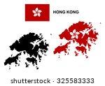 Hong Kong Map Vector  Hong Kong ...