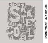 Skate Board Sport Typography  ...