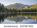 Bear Lake at sunrise. Rocky Mountain National Park, Colorado, United States.