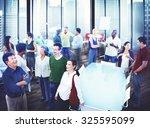business people team teamwork... | Shutterstock . vector #325595099