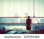 businessman thinking... | Shutterstock . vector #325596383