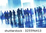 group business people walking... | Shutterstock . vector #325596413