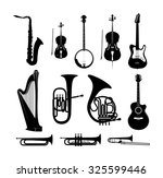 icon set with silhouettes of...   Shutterstock .eps vector #325599446