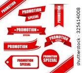 promotion set. | Shutterstock .eps vector #325614008