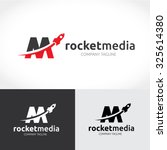 rocket media logo template | Shutterstock .eps vector #325614380