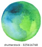 Circle Watercolor Painted...