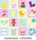 baby items | Shutterstock . vector #32561836