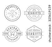 set of vintage restaurant logo  ... | Shutterstock . vector #325619159