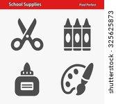 school supplies icons....   Shutterstock .eps vector #325625873