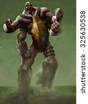 A Big Strong Creature Angry An...