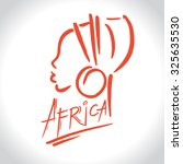 africa  logo with a female...   Shutterstock .eps vector #325635530