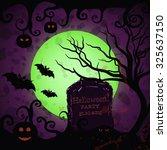 halloween poster. vector... | Shutterstock .eps vector #325637150