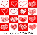 hand drawn sketch hearts for... | Shutterstock .eps vector #325649564