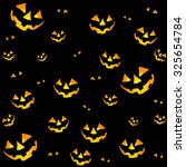 halloween seamless pattern with ... | Shutterstock .eps vector #325654784