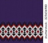 knitted seamless border | Shutterstock .eps vector #325656980