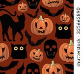 halloween background  with... | Shutterstock .eps vector #325662890