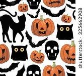 halloween background  with...   Shutterstock .eps vector #325662908