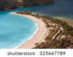 aerial view of blue lagoon in... | Shutterstock . vector #325667789