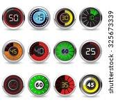 timers set twelve different... | Shutterstock .eps vector #325673339