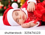 Sleeping Baby Child Santa...