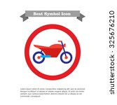 sport motorcycle icon | Shutterstock .eps vector #325676210