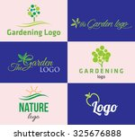 set of various nature and... | Shutterstock .eps vector #325676888