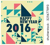 happy new 2016 year colorful... | Shutterstock .eps vector #325677893