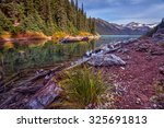 Scenic Mountain Lake With Fall...