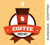 coffee  concept with decoration ...   Shutterstock .eps vector #325697960