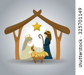 merry christmas concept with... | Shutterstock .eps vector #325701149