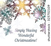 christmas clear background with ... | Shutterstock .eps vector #325702109